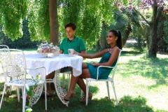 B&B il Casale colazione in giardino in estate