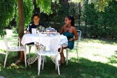 Estate colazione in giardino